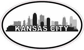 5 3 Oval Kansas City Skyline Sticker Luggage Car Bumper Window Cup Decal Stickertalk