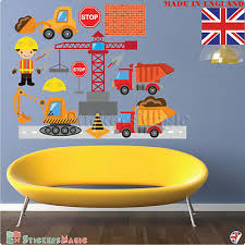 construction wall stickers digger