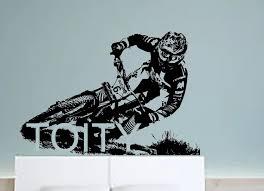 Michael Hannah Wall Sticker Downhill Biker Vinyl Decal Sikmik Sport Style Poster Boy Room Dorm Creative Mural Wall Sticker Boys Roomvinyl Decal Aliexpress