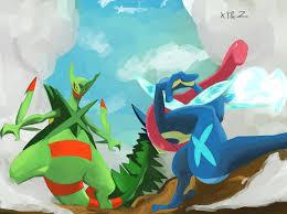 Ash-Greninja vs. Mega Screptile | Greninja