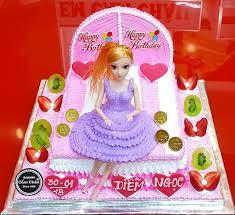 Bánh kem sinh nhật búp bê barbie TR1870025 - Bánh Kem Cẩm Châu - Bánh Kem  Cẩm Châu