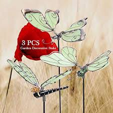 erfly dragonfly stakes outdoor yard