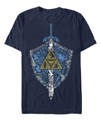 legend of zelda navy iconic weapon tee