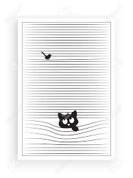 Cat Silhouette Behind Window Vector Cartoon Illustration Wall Royalty Free Cliparts Vectors And Stock Illustration Image 134722670
