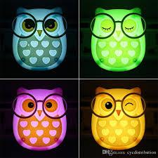cute cartoon owl led mini night light