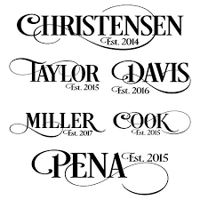 Personalized Family Name Sign Vinyl Wall Decal Sticker Handmade Yyejlzb9h