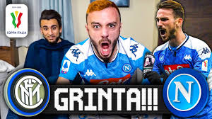 GRINTA!!! INTER 0-1 NAPOLI | LIVE REACTION NAPOLETANO HD - YouTube