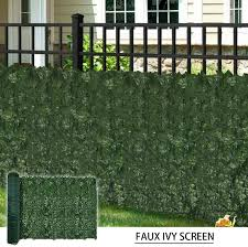 Amazon Com Coarbor 5 Pcs 58 X 196 Faux Ivy Privacy Fence Screen Cover With Mesh Artificial Leaf Vine Hedge Outdoor Decor For Garden Backyard Garden Outdoor
