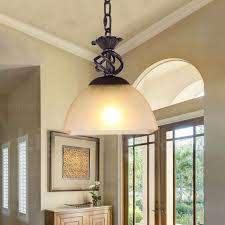 1 light country rustic pendant lights
