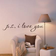P S I Love You Wall Vinyl Word Decal Stickers Lettering For Bedroom Walls On Luulla