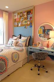 Room And Board Outlet Contemporary Kids And Bed Pillows Bedroom Bulletin Board Bulletin Board Headboard Colorful Quilt Girls Room Inspiration Board Memo Board Pink Walls Round Mirror Twin Bed Wooden Desk Zebra