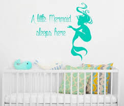 Mermaid Wall Decal Mermaid Kisses And Starfish Wishes Decal Mermaid Vinyl Decal Beach Wall Decal Mermaid Decal Girl Bedroom Decal Wall Decor Wall Decals Murals Home Living Home Decor