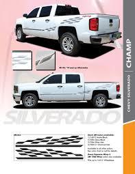 Chevy Silverado Stripes Side Door Vinyl Graphic Stripe Decal Champ 2014 2018