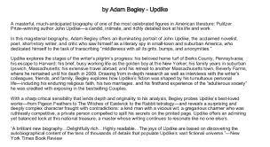 top 5 biographies by Adam Begley - Updike