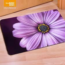 Hugsidea Rectangle Floral Print Felt Rubber Outdoor Floor Mats Indoor Living Room Carpets Kids Home Rugs Modern Anti Slip Mats Mat Mat Mat Kitmat Spring Aliexpress