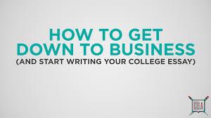 college essay writing process