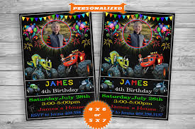 Blaze And The Monster Machines Invitation Blaze And The Etsy