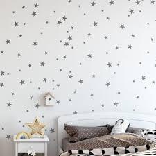 Star Vinyl Wall Decal 148 Silver Stars Star Wall Decal Art Etsy