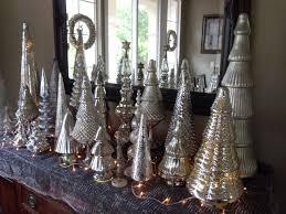mercury glass trees trees
