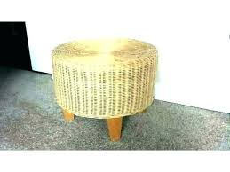 round wicker ottoman with cushion