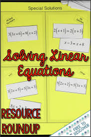 linear equation solving resources