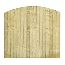 Pressure Treated Green Double Sided Close Board Arched Fencing Panel Fencing