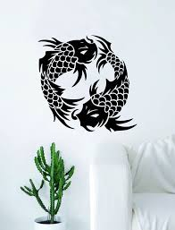 Koi Fish V8 Decal Sticker Wall Vinyl Art Home Decor Decoration Teen Be Boop Decals