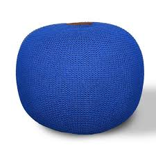 Modern Ottoman Puff Navy Puff Ottoman Poufs For Living Room Bedroom For Kids Foot Stools Round