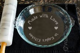 Made With Love Vinyl Sticker Decal Stencil For Etching Glass Dish Personalized