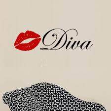 Diva With Lips Wall Decal 2 Color Decal The Walls