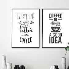 nordic cafe art coffee themed posters