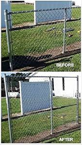 This Chain Link Fence Extension Kit Is Custom Fabricated On Site At Our Facility It Consists Of Two End Post Extensions To Pergola Wooden Pergola Patio Fence