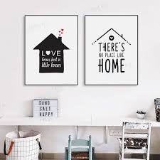 nordic style black white home house family love quotes • framed