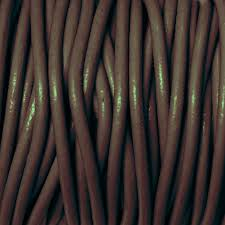 chocolate brown 2mm round leather cord