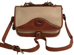 top handle white brown leather satchel
