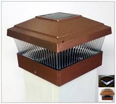 5x5 Copper Solar Fence Deck Post Cap Lights For Vinyl Posts Set Of 2