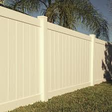 Freedom Ready To Assemble Bolton 6 Ft H X 8 Ft W Sand Vinyl Flat Top Fence Panel In The Vinyl Fence Panels Department At Lowes Com