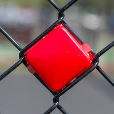 Red Put In Cups Fence Decorations Stumps