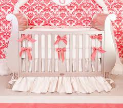 silk ivory c crib bedding set