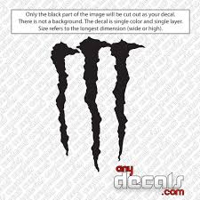 Car Decals Car Stickers Monster Energy M Car Decal Anydecals Com