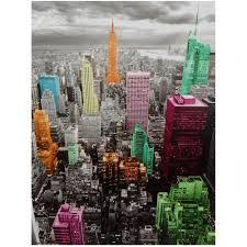 Oriental Furniture Classic High Lights Of New York Skyline Canvas Wall Art Walmart Com Walmart Com