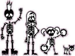 Skeleton Stick Family Mom Dad Daughter And Dog Decal Nostalgia Decals Stick Family Stickers Nostalgia Decals Online