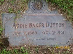 Addie Baker Dutton (1869-1961) - Find A Grave Memorial
