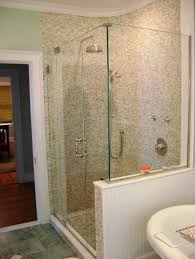 half wall shower enclosures half wall