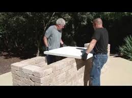 how to build a concrete countertop for