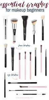 essential makeup brushes beauty with lily
