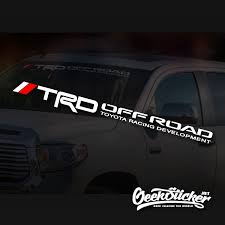 Trd Windshield Decal For Toyota Tacoma Tundra Off Road Car Truck Waterproof Reflective Sticker Vinyl Geeksticker