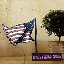 Waving American Flag Wall Decal Wall Fabric Repositionable Decal Vinyl Car Sticker Armyusc002