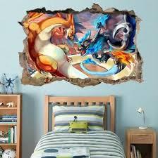Charizard Pokemon Smashed Wall Decal Graphic Wall Sticker Decor Art H378 Ebay
