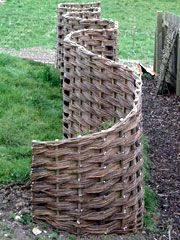 10 Woven Fences Ideas Outdoor Gardens Willow Fence Garden Fencing